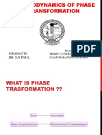 Thermodynamics of Phase Transformation