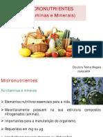 Aula 4.0 Micronutrientes-Viitaminas Lipossolyveis