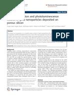 2 Au NPs Electrochemically Deposited on Porous Si PL SEM EDX