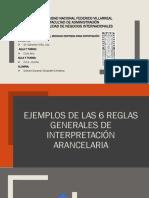 EJEMPLO DE LAS 6 REGLAS DE NOMENCLATURA ARANCELARIA