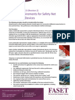 Testing Requirements for Safety Net Attachment Devices