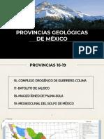 PROVINCIAS GEOLOGICAS DE MEXICO 16-19