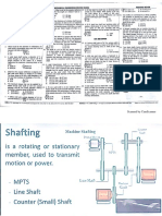 Shaftings, Keys & Couplings
