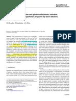 4 Au NPs via Laser Ablation