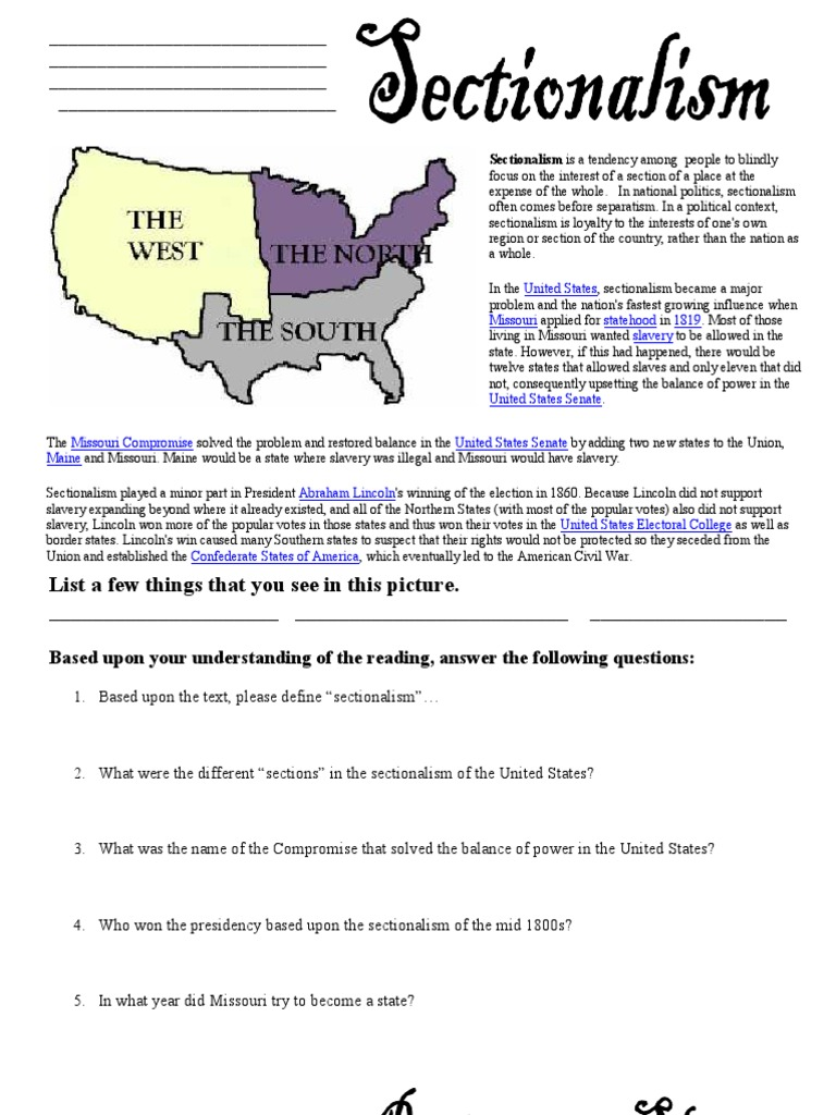 Microsoft Word Civil War Worksheets – Reconstruction Worksheets