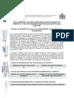 Acta de Proclamacion - Chilete