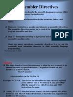 assembler directive in microprocesser 8086