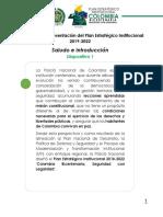 Libreto de La Presentacion Del Plan Estrategico 2019-2022