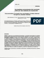 Caracterización de Propóleos de CaldasAnt.