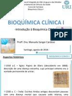 Aula TEÓRICA 1_Bioq Clínica I 2018