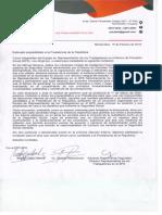 carta a los precandidatos