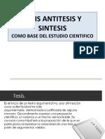 Tesis Antitesis y Sintesis