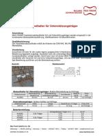 Abstandhalter Faserbeton Sonder Unterstuetzungstraeger TM DEDE