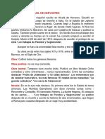 Biografía de Miguel de Cervantes
