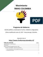 Programa de Gobierno 2017
