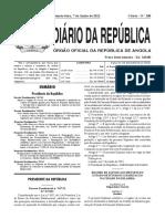 DP n.º 107-12_ Regime de Acesso Aos Imóveis Destinados Na Cidade Do Kilamba Geridos Pelo FFH