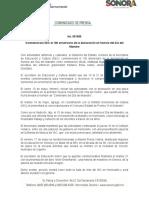 11-05-2019 Conmemorará SEC el 100 aniversario de la declaración en Sonora del Día del Maestro