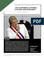 EL TRANCE DE LAS REFORMAS AL MODELO. BALANCE DE OTRO AÑO DE BACHELET