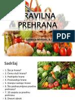 Zdrava Prehrana-Luki Ppt