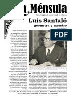 Luis Santaló, geometra y maestro