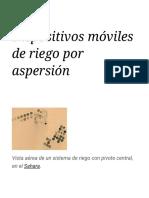 Dispositivos Móviles de Riego Por Aspersión - Wikipedia, La Enciclopedia Libre