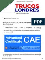 Advanced (CAE)_ Prepararlo Por Tu Cuenta (Guía Definitiva)