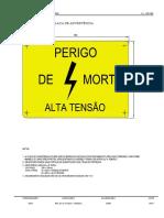 Placa de Advertência - Instruções