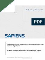 WP-RI System Implementation Reinsurance System