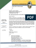 Carta de los Comisionados de Osceola