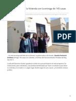 01-11-2018 Arranca El Mes de La Vivienda Con La Entrega de 145 Casas Con Subsidio-Expreso