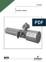 Bettis - G Series Actuators Technical Data Sheet