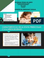 Nutrición Del Escolar y Preescolar
