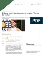 Julianne Moore Sobre Paridad de Género