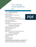 Definición y Tipos de Proyectos en Diseño de Interiores-texto