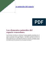 Los elementos naturales del espacio venezolano.docx