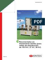 Catalogo Reconectador Solido ENTEC (SPN) 2018