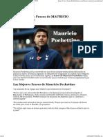 Varios - Frases de Mauricio Pochettino