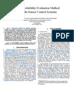 Dynamic Sensor Reliability Evaluation Method in Multi-sensor Control Systems