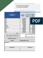 Nomina en Excel