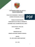 Barreto Espinoza Edmara Anthoanet -Problemática en Torno Al Régimen de Economía Social de Mercado en El Perú