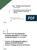 Periodización Política y Jurídica Del Derecho Romano y Fuent
