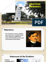 Presentation Title defense on Evaluating knowledge towards the first RIzal Monument