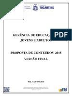 Referencial de Conteudos Eja 2018