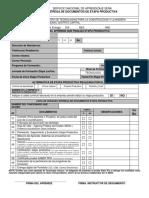 0.1 Lista de Chequeo Entrega de Documentos ETAPA PRODUCTIVA