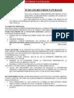 CLASIFICACION DE LOS RECURSOS NATURALES