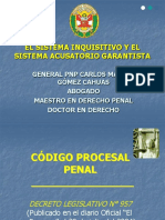 Sistema Inquisitivo y Acusatorio Garantista (1)