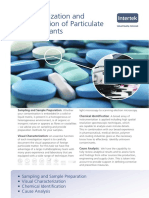 Intertek Characterization and Identification of Particulate Contaminants Services Brochure