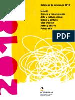 Catálogo de ediciones 2018
