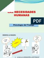 3.1 Las Necesidades Humanas. Presentacion
