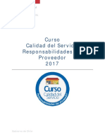 Curso Calidad Del Servicio, Responsabiliades Del Proveedor_2017